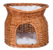 Trixie Wicker Cave with Bed on Top - домик плетеный для кошки, двухъярусный